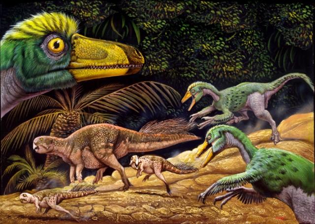 Psittacosaurus-SinovenatorB