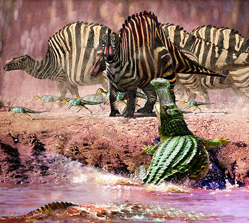 Sarcosachus & OuranosaurusB