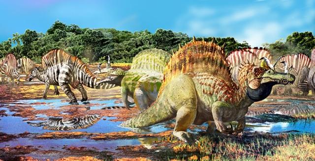 Spinosaurus & Ouranosaurus FF